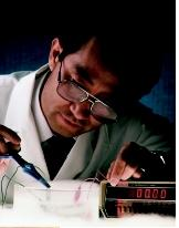A scientist performing pharmacological research.