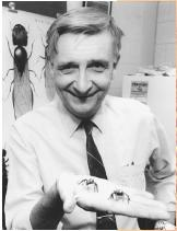 E. O. Wilson, founder of sociobiology.